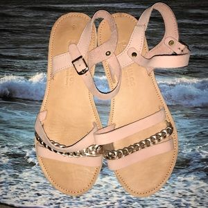 Savopoulos Sandals Rose Gold size 8